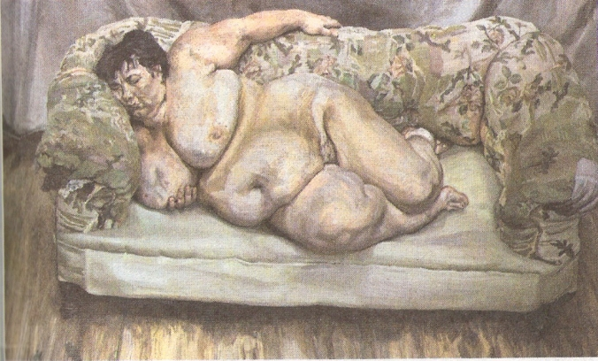 Benefits supervisor sleeping, por Lucian Freud