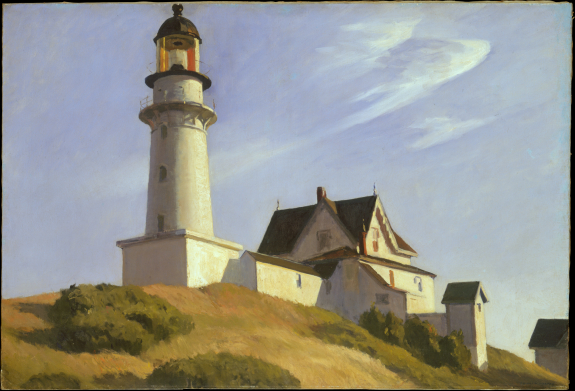The lighthouse at Two Lights, por Edward Hopper