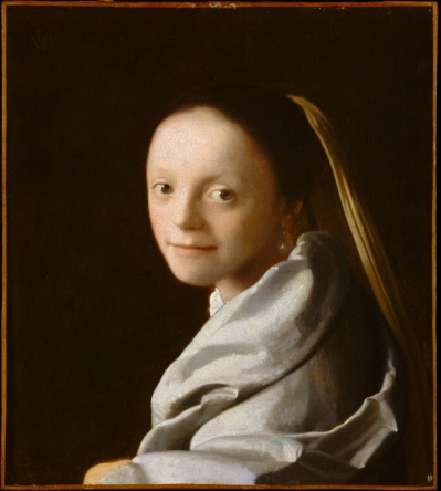 Study of a young woman, por Johannes Vermeer