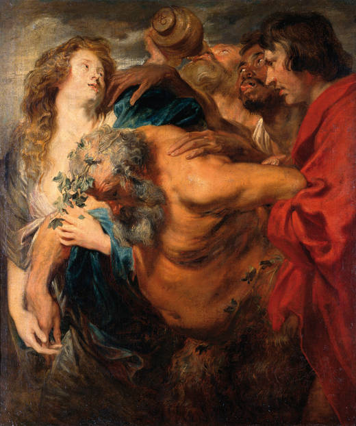 Sileno ebrio, por Van Dyck