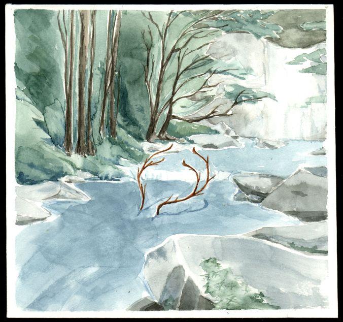 Ciervo río, por Omar Jury