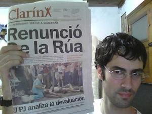 Clarín. Viernes 21 de diciembre de 2001.